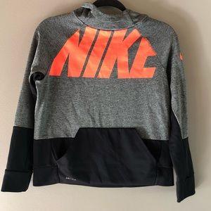 Nike crop color-block dri-fit hoodie L